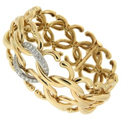 Valentin Magro Diamond Gold Open and Closed Oval Link Bracelet