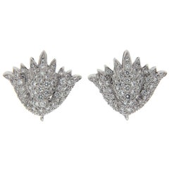 Valentin Magro Diamond Pave Shield Earrings