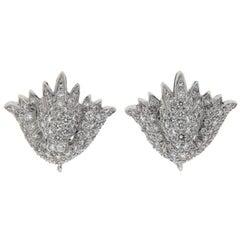 Valentin Magro Diamond Pave Shield Earrings