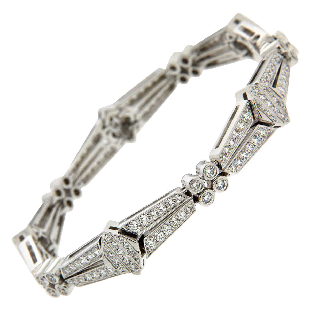 Valentin Magro Diamond White Gold Double Row Link Bracelet