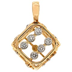 Valentin Magro Diamonds Large Dice Pendant in Yellow Gold