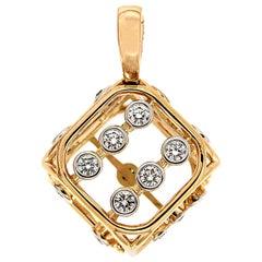 Valentin Magro Diamonds Large Dice Pendant in Yellow Gold