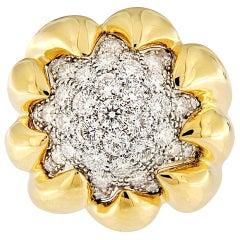 Valentin Magro Dome Pavé Ring with White Diamonds