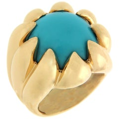 Valentin Magro Dome Turquoise Gold Ring