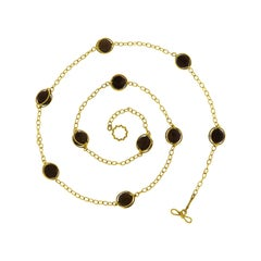 Valentin Magro Doppio Smokey Topaz Necklace
