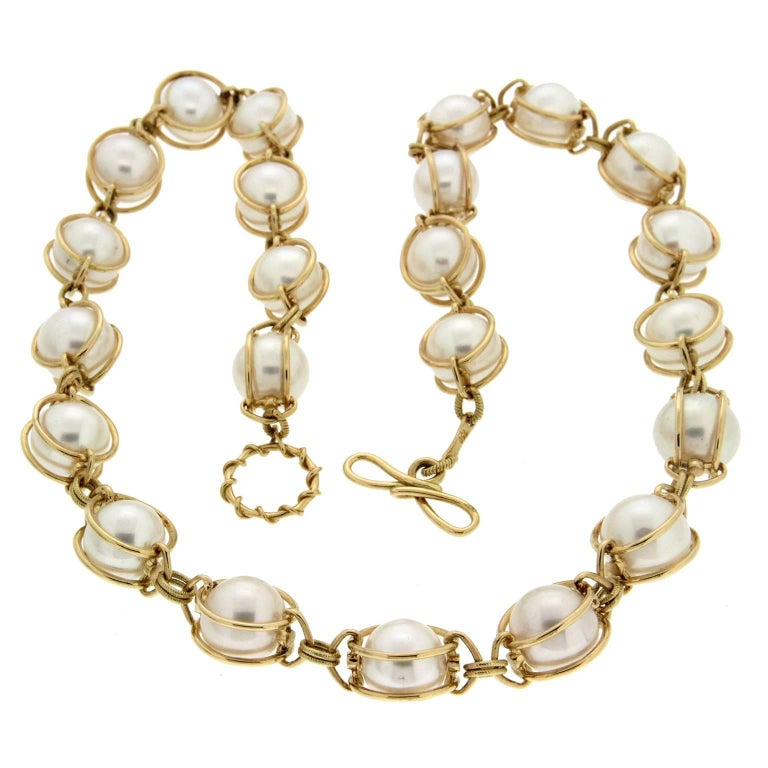 Valentin Magro Doppio Smooth Pearl Necklace