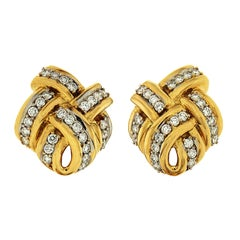 Valentin Magro Double Criss Cross Earrings with Diamonds