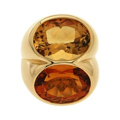 Valentin Magro Double Oval Citrine Ring