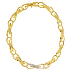 Valentin Magro Flat Ribbon Necklace with Diamonds