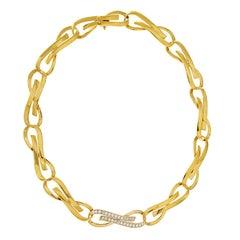 Valentin Magro Flat Ribbon Necklace with Diamonds