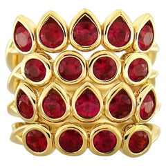 Valentin Magro Four-Band Ruby Gold Ring