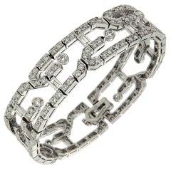 Valentin Magro Geometric Diamond Link Bracelet in White Gold