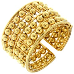 Valentin Magro Gold Ball Four Floating Cuff Bracelet