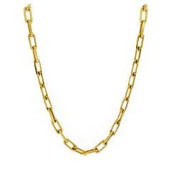 Valentin Magro Gold Elongated Link Necklace