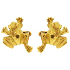 Valentin Magro Gold Frog Cufflinks