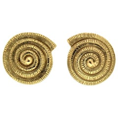Valentin Magro Gold Nautilus Shell Earrings