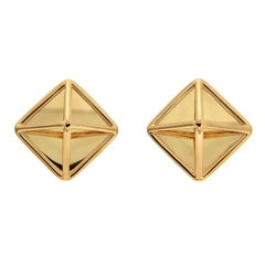 Valentin Magro Gold Pyramid Earrings 'Large'