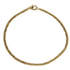 Valentin Magro Gold Tube and Ball Chain Necklace