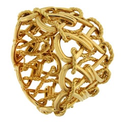 Valentin Magro Gold Twisted Wire Bow Knot Bracelet