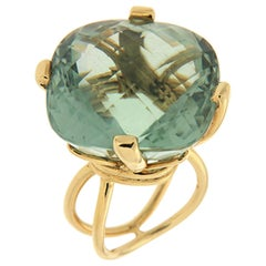 Valentin Magro Green Amethyst 18 Karat Yellow Gold Ring