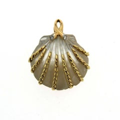 Valentin Magro Hand-Carved Mother-of-Pearl Pendant
