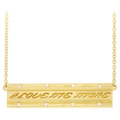Valentin Magro I Love Me More Bar Diamond Pendant