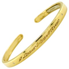 Valentin Magro I Love You More Classic Diamond Yellow Gold Narrow Bracelet