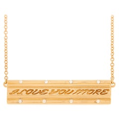 Valentin Magro I Love You More Diamond Rose Gold Bar Pendant