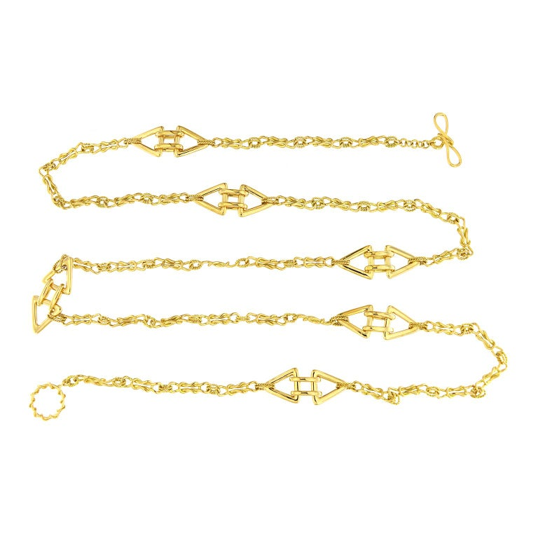 Valentin Magro Interlocking Mariner Knot Necklace In New Condition For Sale In New York, NY