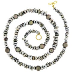 Valentin Magro Keshi and Baroque Tahitian Pearl Necklace