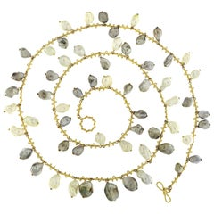 Valentin Magro Keshi Pearl 18 Karat Yellow Gold Necklace