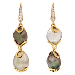 Valentin Magro Keshi Pearl Diamond Drop Earrings
