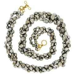 Valentin Magro Keshi Pearl Three-Strand Necklace