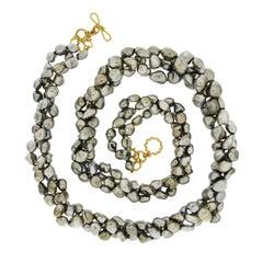 Valentin Magro Keshi Pearl Three-Strand Necklace