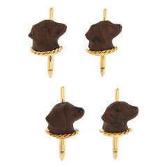 Valentin Magro Labrador Shirt Studs Set of 4 in Obsidian