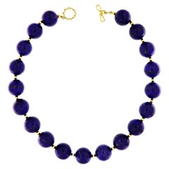 Valentin Magro Lapis Lazuli and Gold Ball Necklace