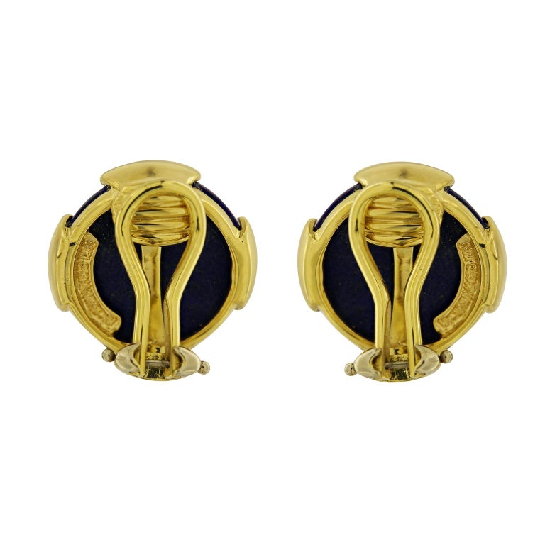 Modern Valentin Magro Lapis Lazuli Cabochon Stud Earrings For Sale