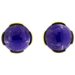 Valentin Magro Lapis Lazuli Cabochon Stud Earrings