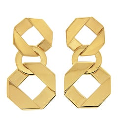 Valentin Magro Large and Small Double Fold over Link Earrings