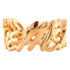 Valentin Magro Large I Love Me More Ring, Block, in 18 Karat Rose Gold