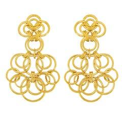 Valentin Magro Large Interlocking Circle Earrings