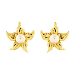 Valentin Magro Lila's Blossom Pearl Gold Earrings