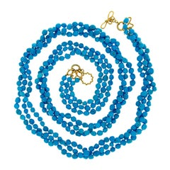 Valentin Magro Long Multi-Strand Turquoise Necklace