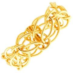 Valentin Magro Looping Ring Gold Bracelet