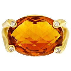 Valentin Magro Madeira Citrine and Diamond Gold Ring