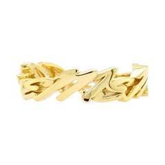 Valentin Magro Medium I Love Me More Ring, Block, 18 Karat Yellow Gold