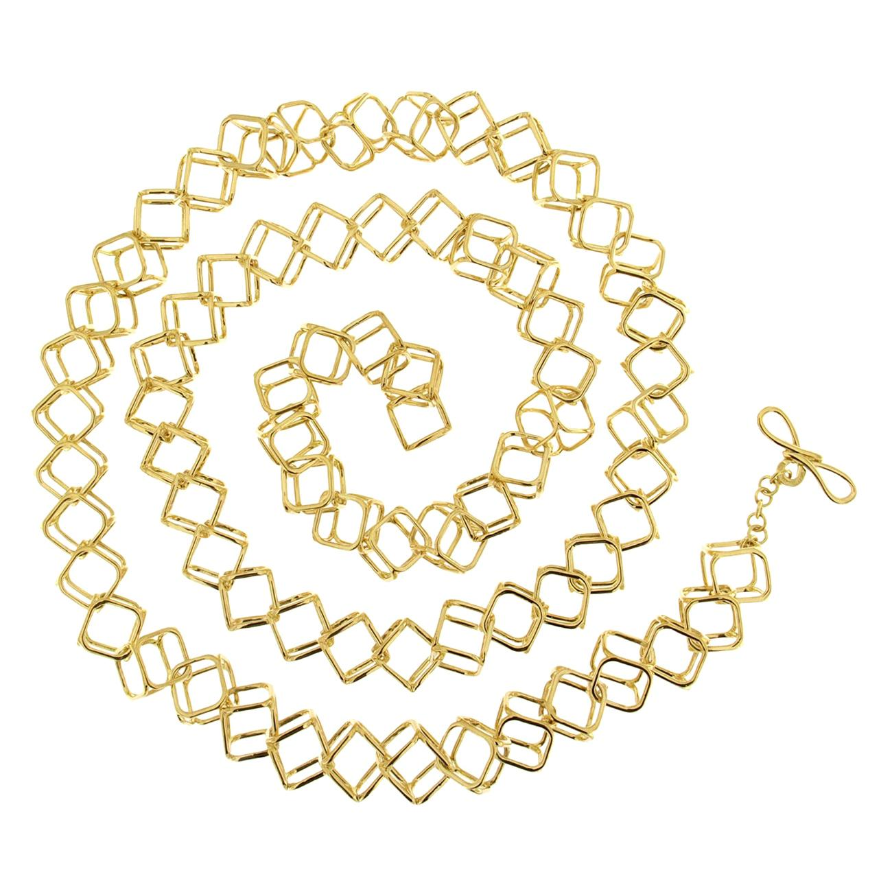 Valentin Magro Medium Interlocking Cushion Cube Necklace