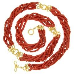 Valentin Magro Memmetti Coral Strand Necklace