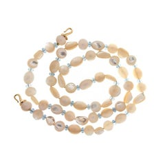 Valentin Magro Mother-of-Pearl and Aquamarine Necklace