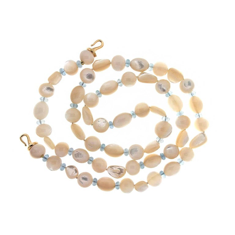 722fc5ee418b2 Valentin Magro Mother-of-Pearl and Aquamarine Necklace